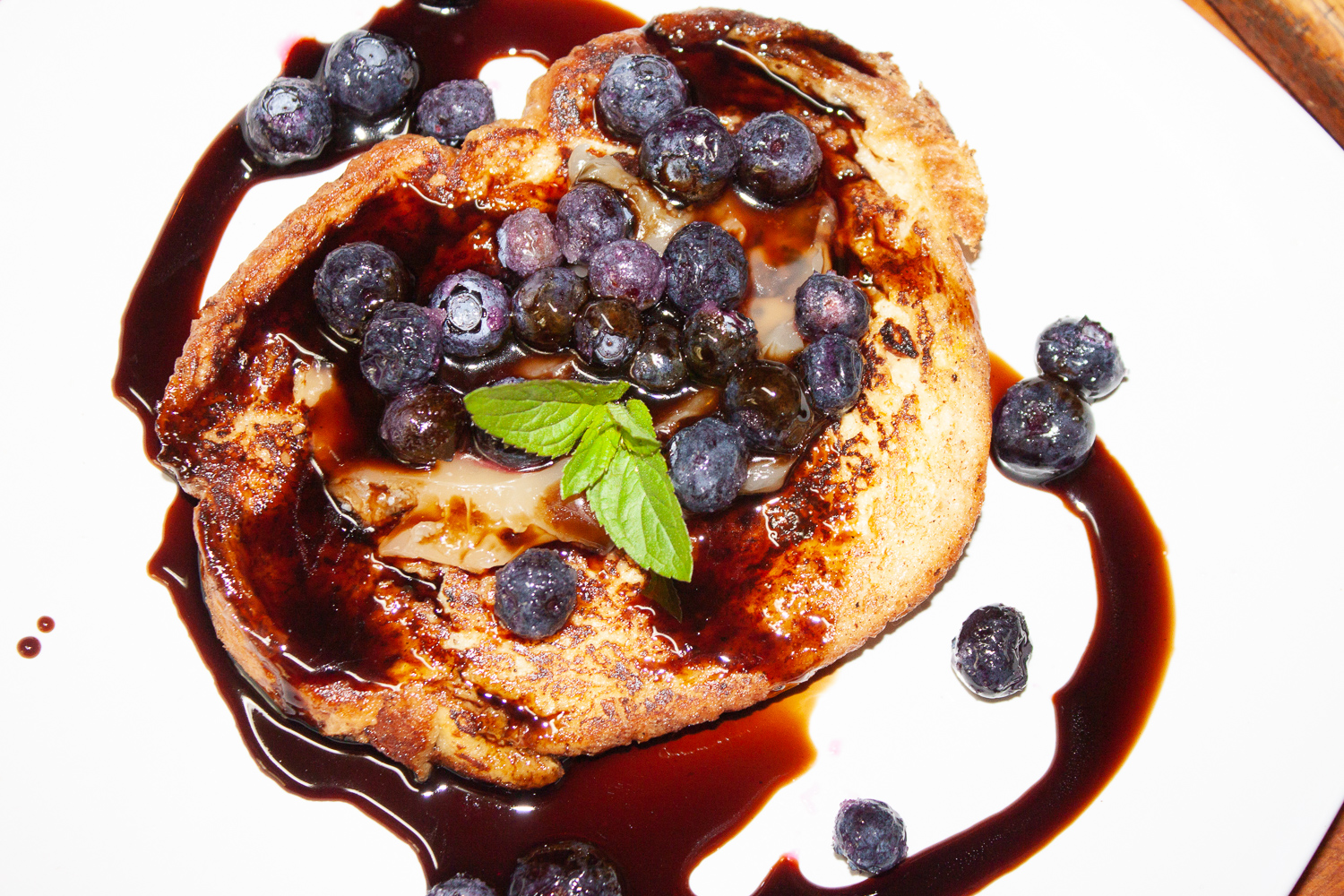 blueberries and french toast